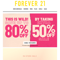 70% OFF ONLY IN-STORE