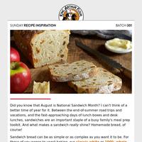 Sunday recipe inspiration: Bread, wonderful bread