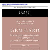 Gem Card is here! Earn $200-$7,500