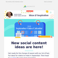 Your September video inspiration is here 🗓