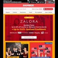 ZALORA Merdeka Fiesta is ON🎉 Up to 13.5% Upsized Cashback + up to 40% off voucher on brands you love!