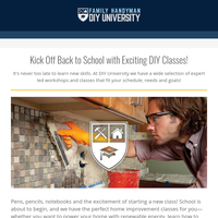 For you! Back to school with DIY University.