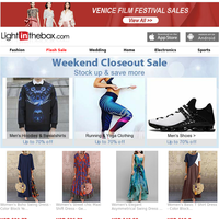 Weekend Closeout Sale - Up to 70% Off