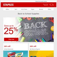 Huge Back to School Savings