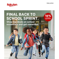 Back to School Special! Shop amazing deals from TK Maxx, Zavvi and more.