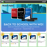 Back to school with Western Digital - Save on select WD products! (Aug 30 - Sep 26)