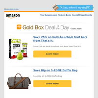 Save 25% on back-to-school fruit bars from...