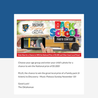Last Days to Enter in the National Back to School Photo Contest!
