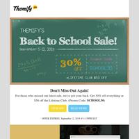 30% Off Back to School Sale + 👚NEW! Ultra & Shoppe Fashion Skin👖