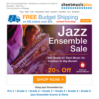 Back To School Savings 🍎20% Off Jazz Ensemble Sets & Methods + Free Shipping