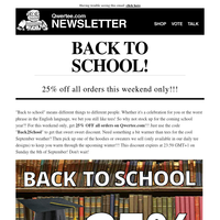 🎓🎒 25% DISCOUNT FOR BACK TO SCHOOL CELEBRATION/COMMISERATION! 🚌📚