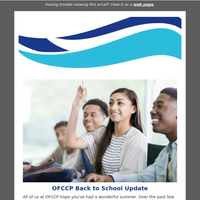 OFCCP Back to School Update