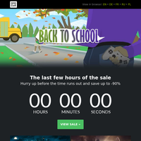 ⏳ You're running out of time! Back to School sale ends in...
