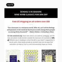 Flash Sale: 50% off nine back-to-school books