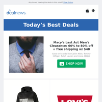 60% to 80% off Macy's Last Act Men's Clearance | PUMA Men's Hoodie for $15 | Up to 46% off Amazon Devices Back to School Sale