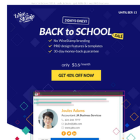 Back to School Offer - Don't miss out