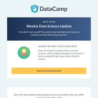 Save 67% & Commit to Learning Data Science for a Year!