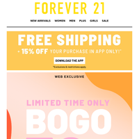 Falling for your BOGO w 50%!