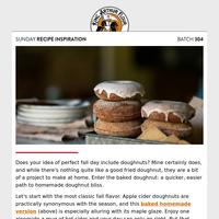Sunday Recipe Inspiration: Mmm, doughnuts