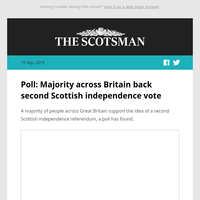 Poll: Majority across Britain back second Scottish independence vote