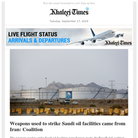 Iranian arms used, drones not launched from Yemen; Non-swimmer expat saves drowning Emirati; Abandoned child shifted to Dubai shelter home
