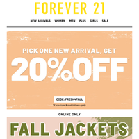 Just Today: JACKETS + SWTRS 30-50% OFF!