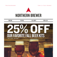 25% Off Select Fall Beer Kits Starts Now!