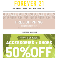 Ask & receive: 50% OFF SHOES + ACCESSORIES