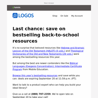 Last chance: save on bestselling back to school resources