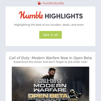 Call of Duty: Modern Warfare open beta, Crying Suns, pre-order The Outer Worlds, and more