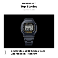 Your Top Stories: G-SHOCK's 5000 Series Gets Upgraded in Titanium and More
