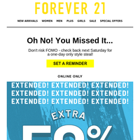 🚨EXTENDED: EXTRA 50% SALE + 15% OFF!