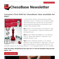 NEW: Caruana's first DVD series for ChessBase! Also available for MAC!