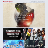 Save up to 90% on Square Enix games + pre-order Destiny 2: Shadowkeep!