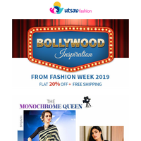 💃Your Bollywood Inspiration From Fashion Week 2019.