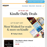 Your Sunday Kindle deals: Up to 80% off on Most Wished For reads & more