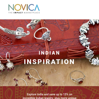 Indian Inspiration - Save on Unique Jewelry & More!