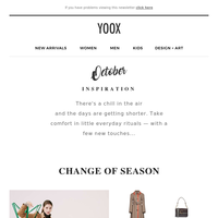 October Inspiration: It's time for a change... of season!