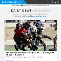 OSU football: Five takeaways from No. 21 Cowboys'' 45-35 loss at Texas Tech