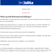 What's up with McDermott and challenges?