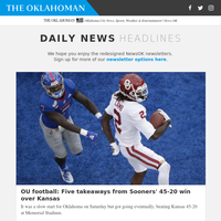 OU football: Five takeaways from Sooners'' 45-20 win over Kansas