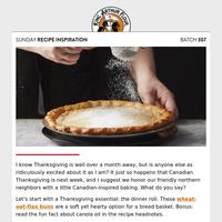 Sunday Recipe Inspiration: Thank you, Canada