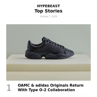 Your Weekly Round-Up: OAMC & adidas Originals Return With Type O-2 Collaboration and More
