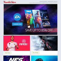 EA games are now available on the Humble Store + save up to 85% off in our EA Launch Sale!