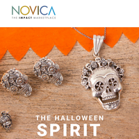 Festive jewelry & decor for Halloween - on sale today!