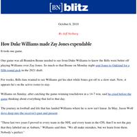 How Duke Williams made Zay Jones expendable