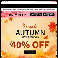 Presale: Autumn New Arrivals!