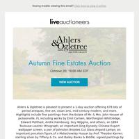 Ahlers & Ogletree Auction Gallery | Autumn Fine Estates Auction