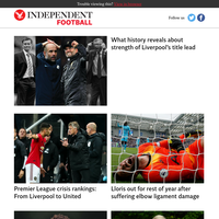 What history reveals about strength of Liverpool's title lead
