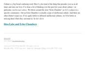 Idea Labs and Echo Chambers